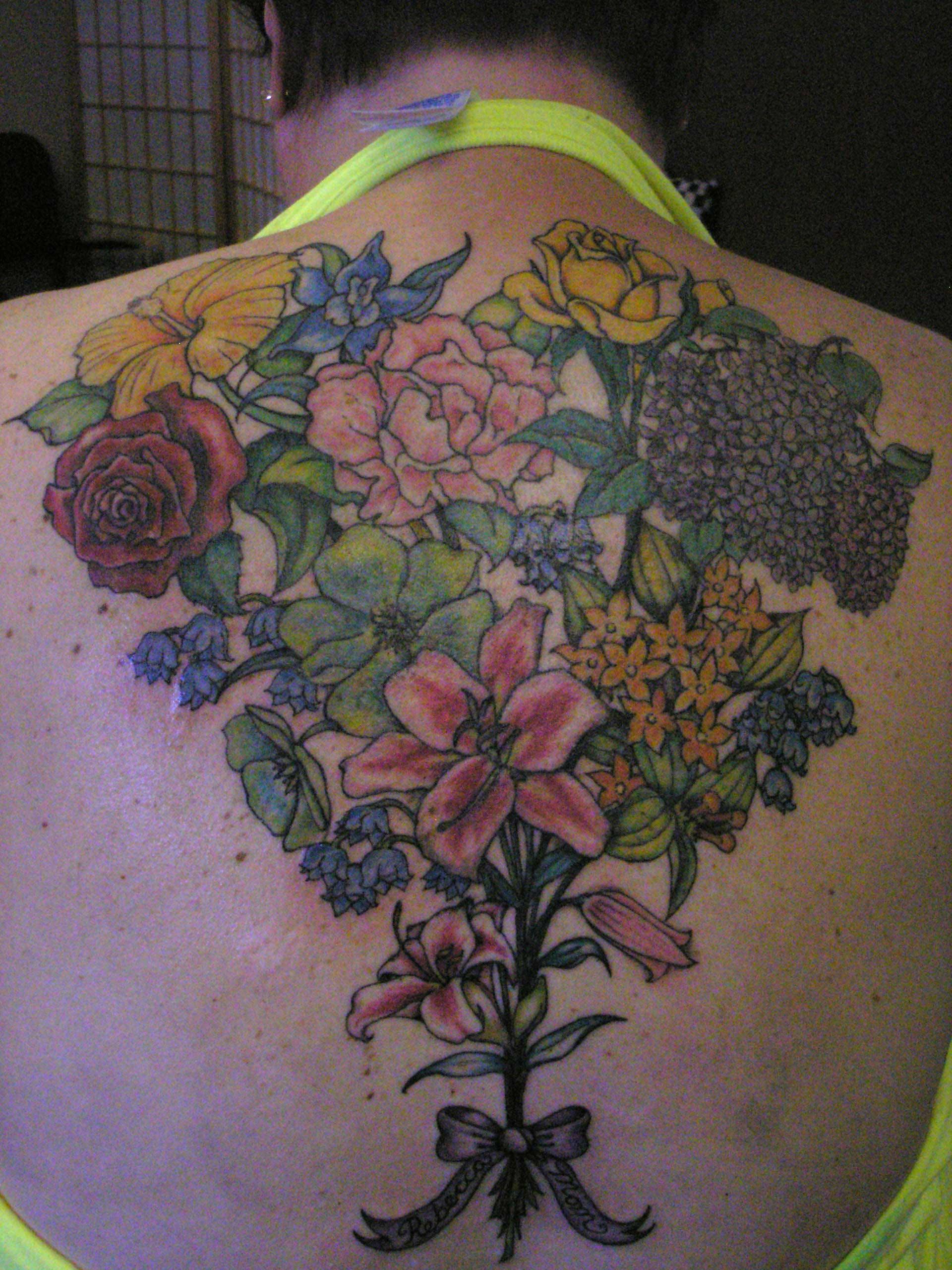 Bouquet Tattoo Tattoos: Fine Art & Tattoos By Molly Rose